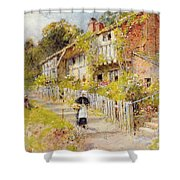 Cottages   A Row Of Cottages Shower Curtain