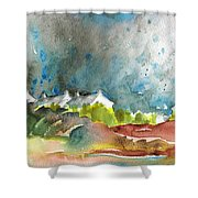 Cottages In Brittany Shower Curtain