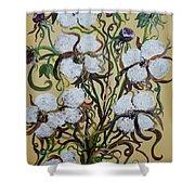 Cotton #2 - Cotton Bolls Shower Curtain