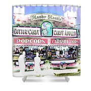 Cotton Candy Castle Shower Curtain