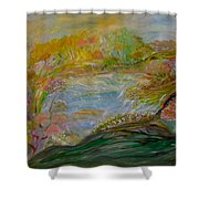Cotton Candy Dreams Shower Curtain by Sara Credito
