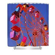 Cotton Candy Ferris Wheel Shower Curtain
