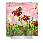 Cotton Candy Flowers Shower Curtain