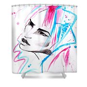 Cotton Candy Girl Shower Curtain