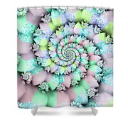 Cotton Candy I Shower Curtain