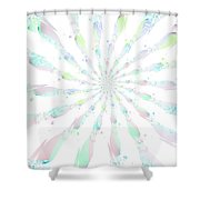 Cotton Candy V Shower Curtain