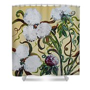 Cotton Squared Shower Curtain
