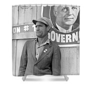 Cotton Striker, 1938 Shower Curtain