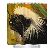 Cotton Top Tamarin Zack Half Of All Proceeds Go To Jungle Friends Primate Sanctuary Shower Curtain