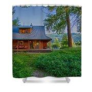 Cottonwood Cottage At Sunset Shower Curtain