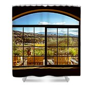 Cougar Winery View Shower Curtain