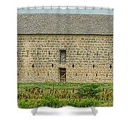 Council Grove Kansas Stone Barn Shower Curtain