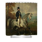 Count Alfred De Montgomery 1810-91 1850-60 Oil On Canvas Shower Curtain