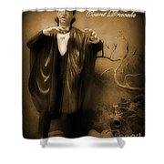 Count Dracula In Sepia Shower Curtain