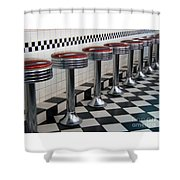 Counter Seats Shower Curtain