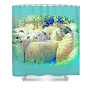 Counting The Sheep But Can't Sleep  Shower Curtain