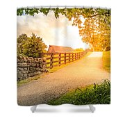 Country Alley Shower Curtain