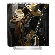 Country And Western Music Shower Curtain