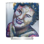 Country Artist Patsy Cline Shower Curtain