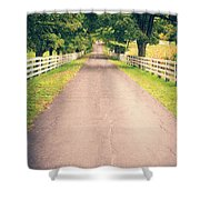 Country Back Roads Shower Curtain