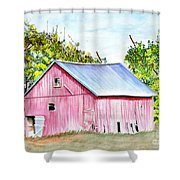 Country Barn Shower Curtain