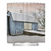 Country Blue Shower Curtain
