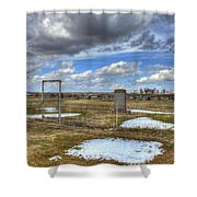 Country Cemetary Shower Curtain
