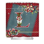 Country Charm Monogramed L Shower Curtain