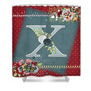 Country Charm Monogramed X Shower Curtain