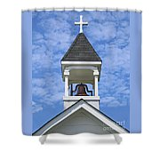 Country Church Bell Shower Curtain