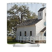 Round Top Texas Country Church Shower Curtain