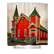Country Church Paint Shower Curtain