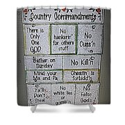 Country Commandments Shower Curtain
