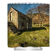 Country Cottage Shower Curtain by Adrian Evans