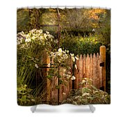 Country - Country Autumn Garden  Shower Curtain by Mike Savad