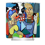 Country Cubism Shower Curtain