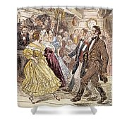 Country Dance, 1820s Shower Curtain