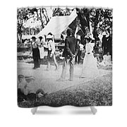 Country Dance, 19th Century Shower Curtain