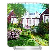 Country Estate In Spring Shower Curtain