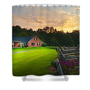 Country Estate Sunset Shower Curtain