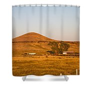 Country Farm In The Hills Shower Curtain