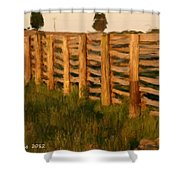 Country Fence In England Shower Curtain