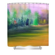 Country Field And Trees Shower Curtain