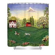 Country Frolic Two Shower Curtain