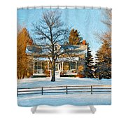 Country Home Impasto Shower Curtain