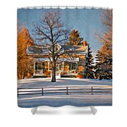 Country Home Oil Shower Curtain
