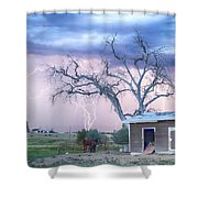 Country Horses Riders On The Storm Shower Curtain