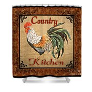 Country Kitchen Rooster Shower Curtain