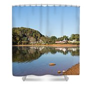 Country Lake Scene Shower Curtain