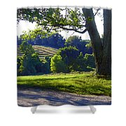 Country Landscape Shower Curtain